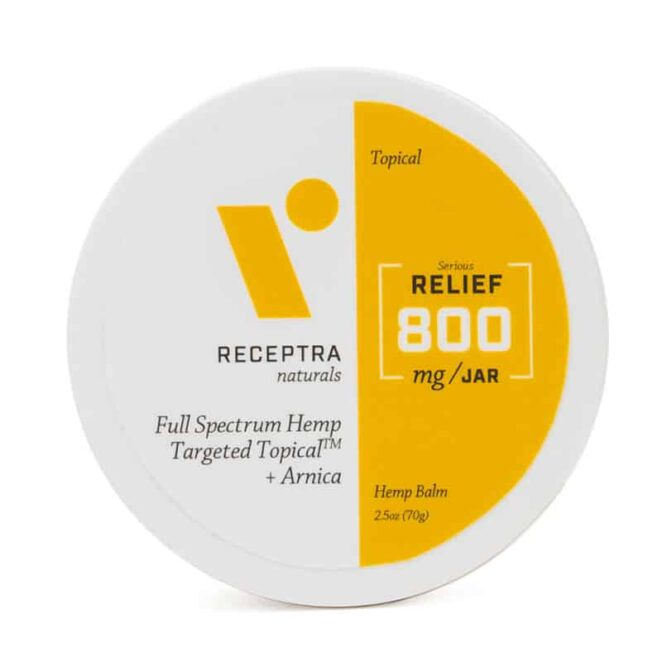 Receptra Naturals Full Spectrum Targeted Topical CBD Balm with Arnica 800 mg