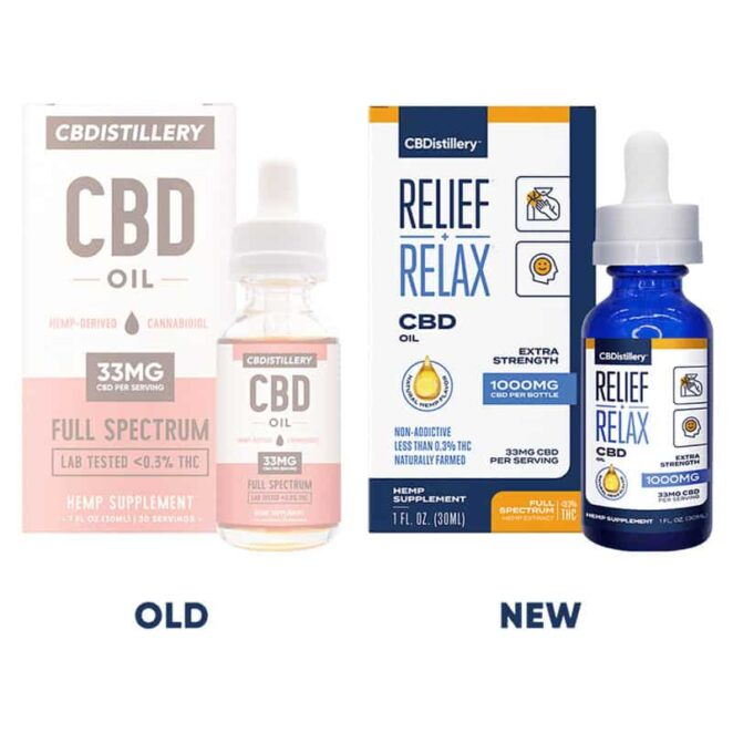 CBDistillery-Full-Spectrum-1000-mg-Relief-Relax-CBD-Oil-Tincture-Old-v-New-Label-Change