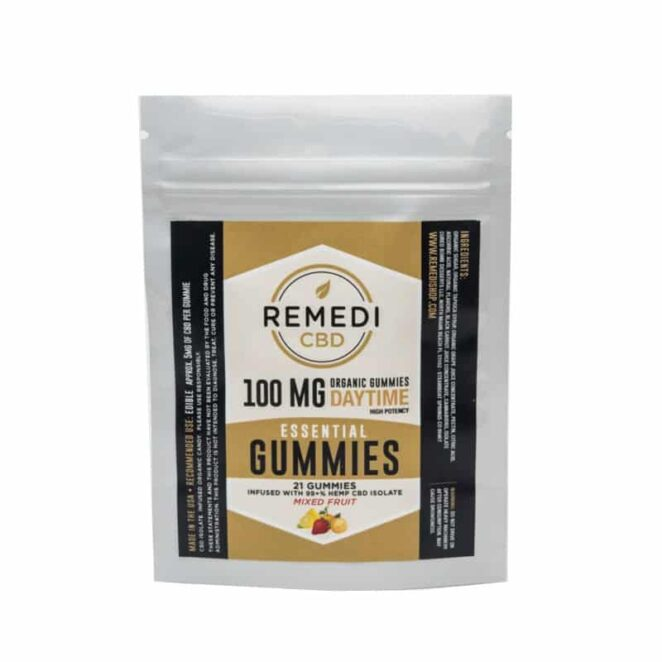 Remedi CBD Organic Daytime CBD Edible Gummies