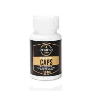 Remedi CBD Essential Caps Full-Spectrum CBD Gel Capsules