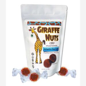 Giraffe Nuts Atlantic Sea Salt Caramel CBD Edibles