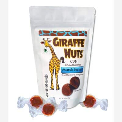 Giraffe Nuts Atlantic Sea Salt Caramel CBD Edibles