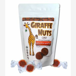 Giraffe Nuts Golden Maple Caramel CBD Edibles