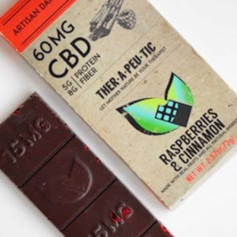 Therapeutic Treats Raspberries & Cinnamon CBD Chocolate Bar