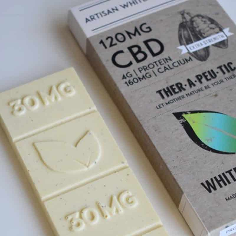 White Chocolate CBD Chocolate Bar