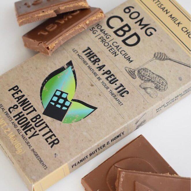Therapeutic-Treats-Peanut-Butter-&-Honey-CBD-Chocolate-Bar