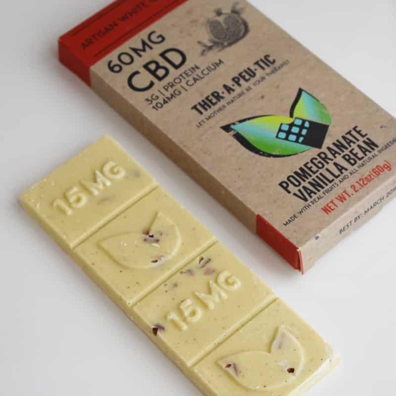 Therapeutic Treats Pomegranate Vanilla Bean CBD Chocolate Bar