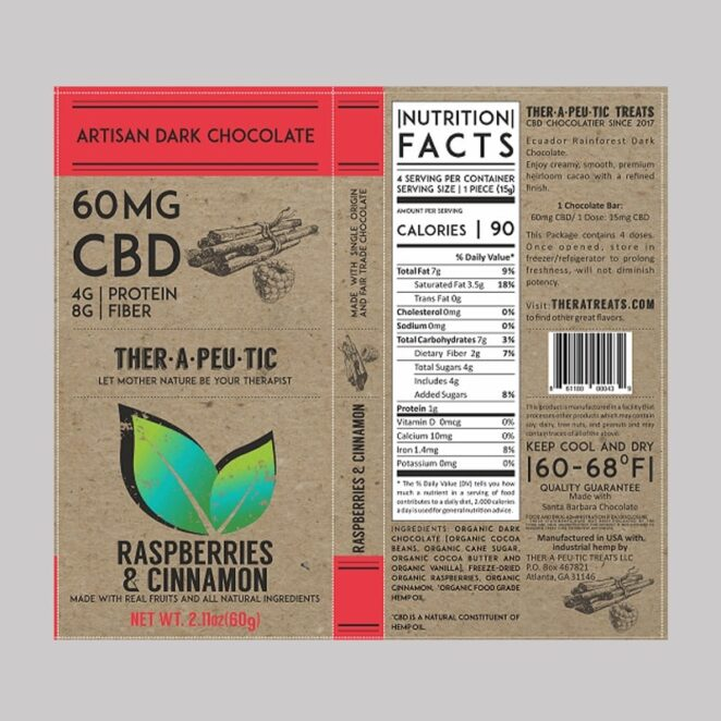 Therapeutic-Treats-Raspberries-&-Cinnamon-CBD-Chocolate-Bar-4
