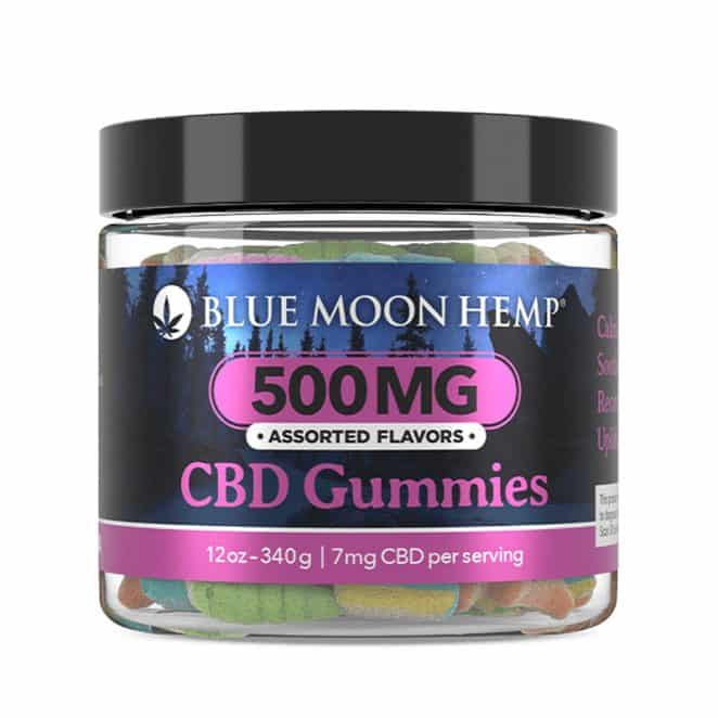 Blue Moon Hemp CBD Gummies 500 mg Jar 7 mg CBD Gummy