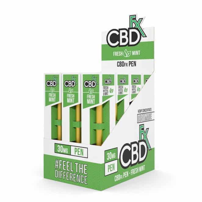 CBDfx Fresh Mint CBD Vape Pen 12 Pack