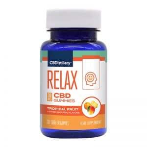 CBDistillery CBD Gummies - Broad Spectrum Relax Anytime Formula