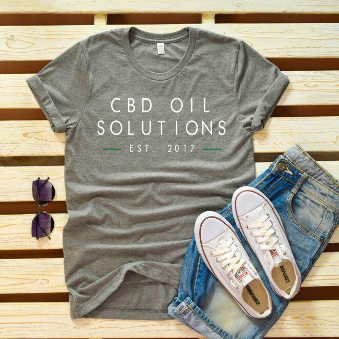 CBD-Oil-Solutions-Tee-Womens-Gray