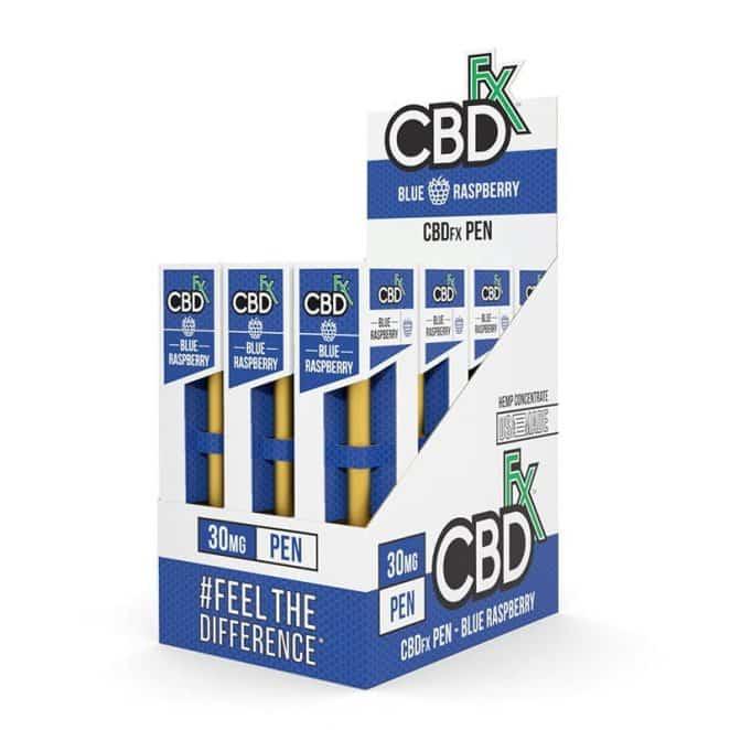 CBDfx Blue Raspberry CBD Vape Pen 12 Pack