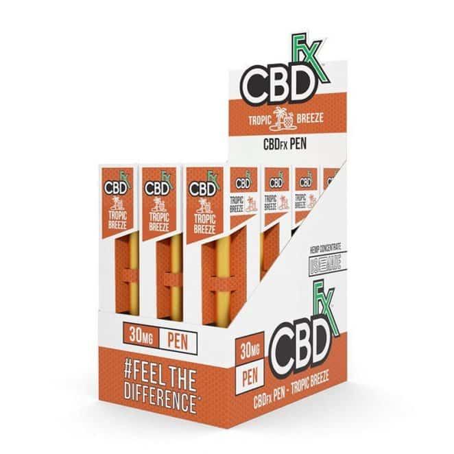 CBDfx Tropic Breeze CBD Vape Pen 12 PACK