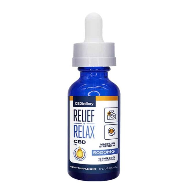 CBDistillery-Full-Spectrum-5000-mg-Relief-Relax-CBD-Oil-Tincture-Bottle