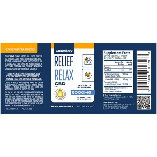 CBDistillery-Full-Spectrum-5000-mg-Relief-Relax-CBD-Oil-Tincture-Label