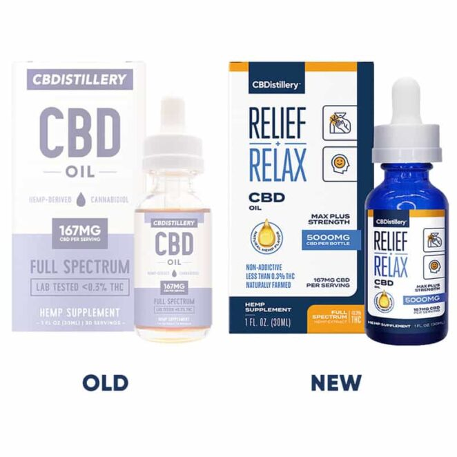CBDistillery-Full-Spectrum-5000-mg-Relief-Relax-CBD-Oil-Tincture-Old-v-New-Label-Change