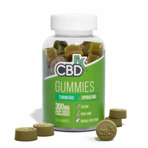 CBDfx CBD Gummies with Turmeric and Spirulina