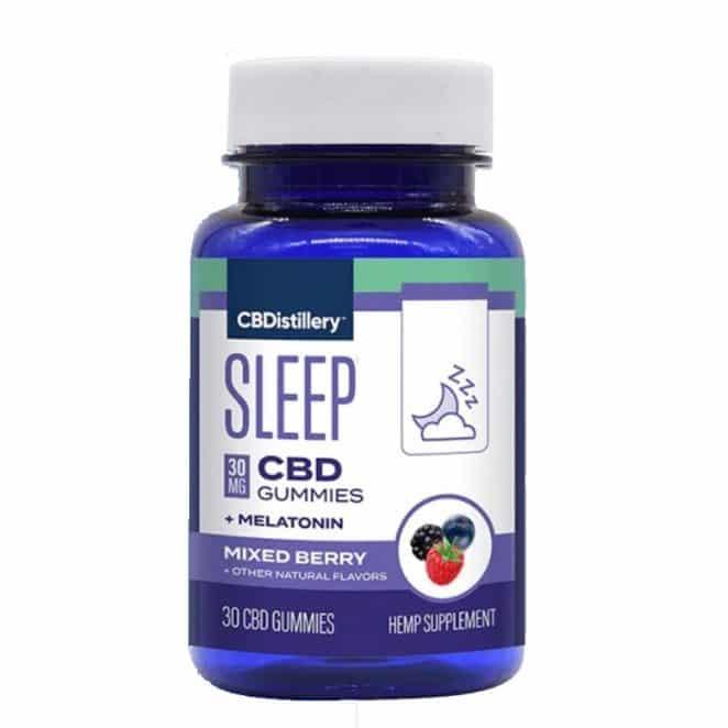 CBDistillery Nighttime PM CBD Gummies with Melatonin - Broad Spectrum Sleep Formula