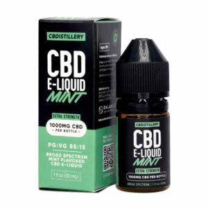 CBDistillery-Mint-CBD-E-Liquid-1000-mg