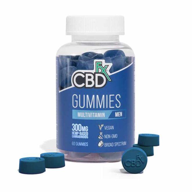 CBDfx Multivitamin CBD Gummies for Men