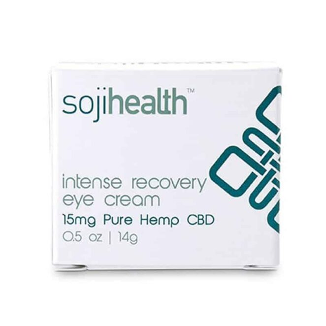 Soji Health Intense Recovery CBD Eye Cream-box