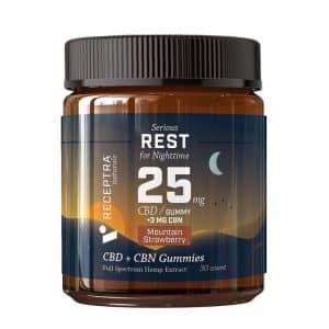 Receptra Serious Rest CBD Gummies with CBN