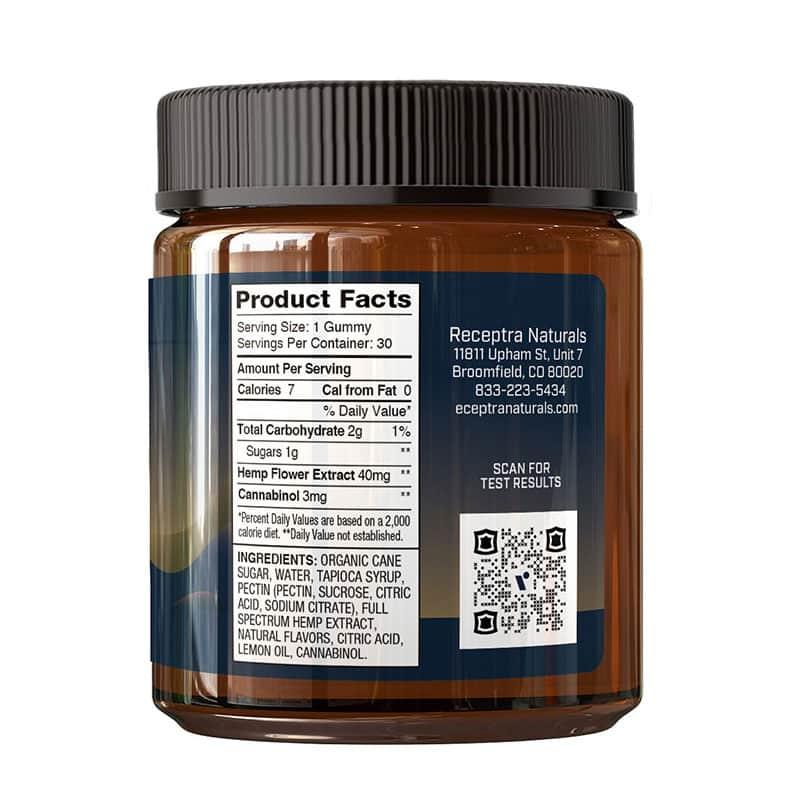 Receptra Serious Rest CBD Gummies with CBN Side